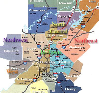 A Guide To Neighbourhoods Of Atlanta    USA